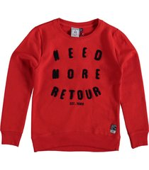 retour sweater bright red