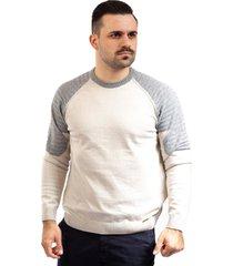 blusa de malha manga raglan sumaré 10437 bege