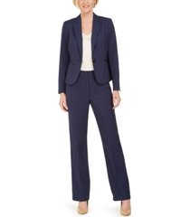 le suit petite one-button pinstripe pants suit