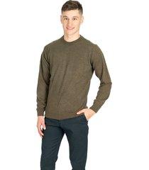 sweater verde pato pampa base liso hernando verde hoja