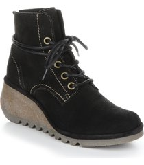 women's fly london nero lace-up bootie, size 11us - black