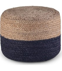 lydia round braided pouf