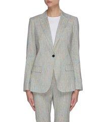 'staple' single button tailored linen blend blazer