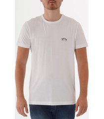 boss curved logo t-shirt - white 50412363