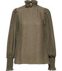 florenza blouse blouse lange mouwen groen second female