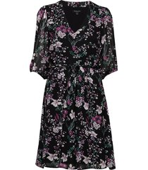 slfvonna 3/4 dress b korte jurk zwart selected femme