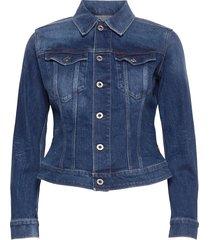 3301 slim jacket jeansjack denimjack blauw g-star raw