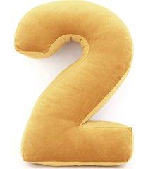 poduszka cyferka 2 velvet żółta