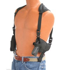 "horizontal shoulder holster for beretta u22 neos with 4 1/2"" barrel with laser"