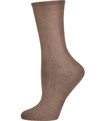 women's organic cotton flat knit crew socks