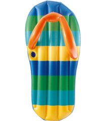 "blue wave sports beach striped flip flop 71"" inflatable swimming pool float"