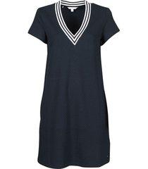 korte jurk tommy hilfiger textured shift short dress ss