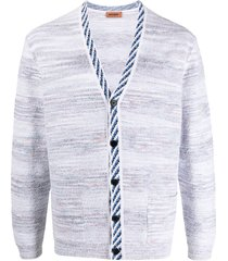 missoni marl-knit v-neck cardigan - white