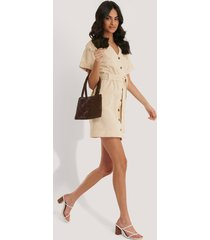 trendyol buttoned mini dress - beige