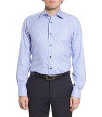 men's david donahue trim fit geometric dress shirt