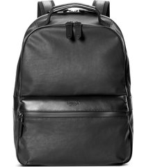 shinola runwell coated canvas & leather laptop backpack in black at nordstrom