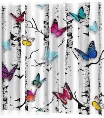 árbol de coloridas mariposas lindo salón dormitorio cortina cortina wo