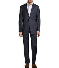 milburn iim series t regular-fit check wool suit