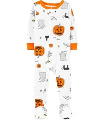 carter's baby boy & girl 1-piece halloween snug fit cotton footie pjs
