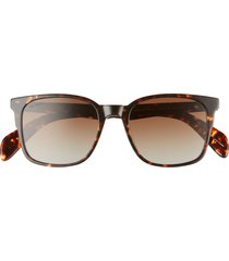men's rag & bone 52mm polarized rectangular sunglasses -