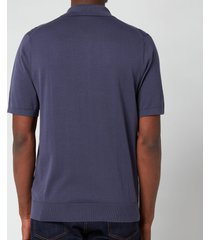 ps paul smith men's zebra logo pullover polo shirt - purple - xxl