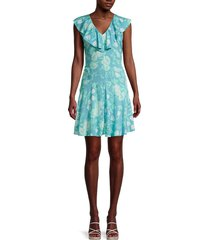 calvin klein women's floral tie-back dress - mykonos multi - size 8