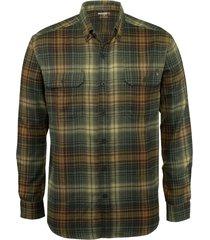 wolverine men's escape long sleeve flannel shirt grove plaid, size xxl
