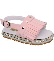sandalia rosa plumitas