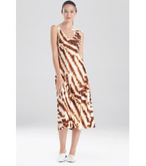 ethereal tiger satin nightgown sleep pajamas & loungewear, women's, size xl, n natori