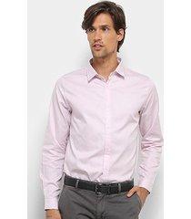camisa acostomento manga longa básica masculina