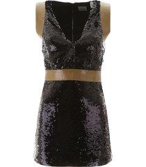 burberry sequined mini dress