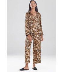natori cheetah notch sleepwear pajamas & loungewear set, women's, size l natori