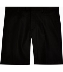mens black smart chino slim shorts