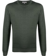 canali slim-fit crew-neck pullover - green