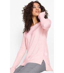 oversized trui met zijsplitten
