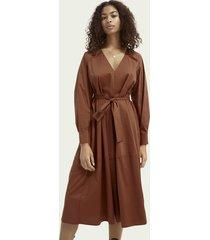 scotch & soda crisp cotton-blend dress