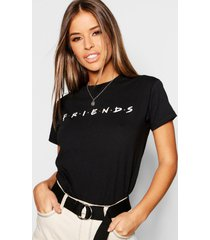 petite gelicenseerd friends t-shirt, black