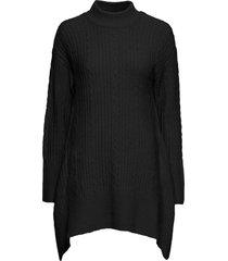 maglione lungo asimmetrico (nero) - bodyflirt