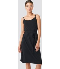 na-kd wrap detail strap dress - black