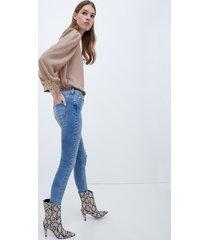 motivi jeans skinny con strappi modello gisele donna blu