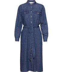 fqfia-l-dr-puff dresses shirt dresses blå free/quent