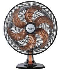ventilador de mesa turbo 80w 110v 40cm preto e bronze