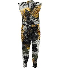 geisha 01400-60 cleo 910 jumpsuit all over print yellow-black