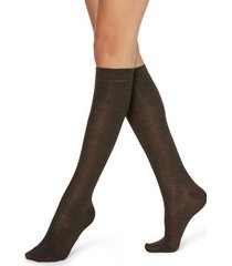 calzedonia patterned knee-high socks woman brown size tu