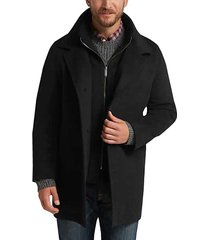 pronto uomo men's black tic classic fit car coat - size: 4x - only available at men's wearhouse