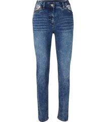 jeans elasticizzati con paillettes (blu) - bpc bonprix collection