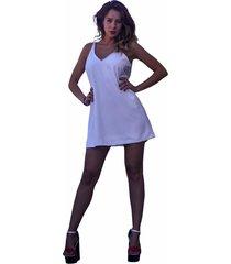 vestido blanco soy bajo la manga