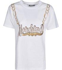 moschino logo chain t-shirt