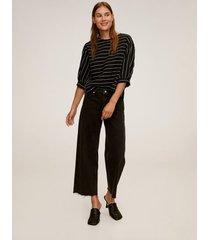 gestreepte oversized blouse