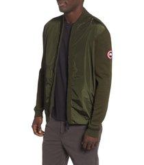 men's canada goose windbridge regular fit sweater jacket, size xx-large - green